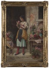 flower seller by hans zatzka
