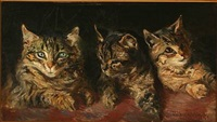 three cats by vilhelm theodor fischer