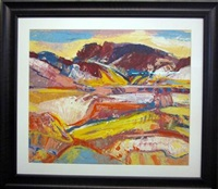 abstract landscapes (group of 5 works) by jean krille