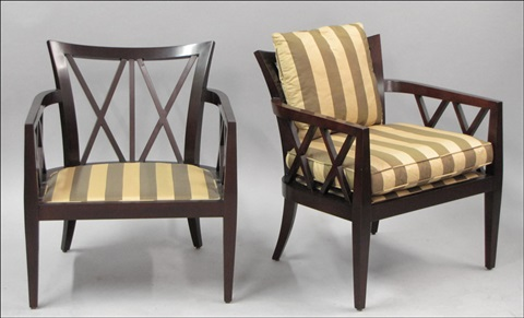 X Back Armchairs Pair By Barbara Barry On Artnet