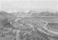 thoune, vue prise au dessus de la route de berne by jean-baptiste arnout