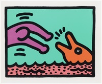 ohne titel (plate i aus: pop shop v) by keith haring