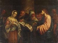 christus und die ehebrecherin by dario varotari