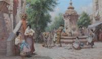 at the fountain by arthur trevor haddon