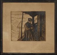 la tricoteuse by edouard (eugène françois) vallet