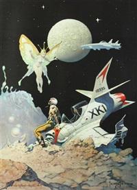 encounter and dream flight (2 works) by frank frazetta