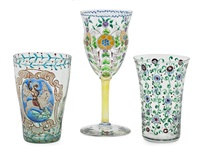 dos vasos y copa (3 works) by francesc quer