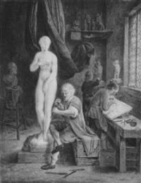pygmalion (im atelier des bildhauers) by j. dansaert