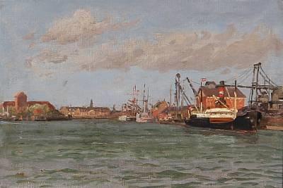 view from copenhagen habour by vilhelm karl ferdinand arnesen