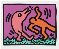 ohne titel (plate iv aus: pop shop v) by keith haring