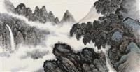 山水画 by li xiongcai