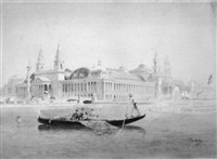 columbian exposition scene with gondola by peter woltze