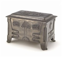 table box by rogers silverplate co arts and crafts