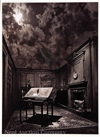 untitled: surreal sky over study by jerry uelsmann