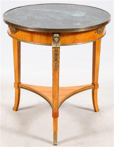 John Widdicomb Grand Rapids, Mi, Marble Top Table By John Widdicomb  Furniture (