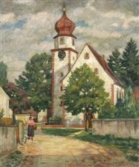 kirche in offnadingen bei freiburg by erwin pfefferle