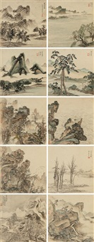 拟古山水册 (landscape) (album of 10) by wu ding