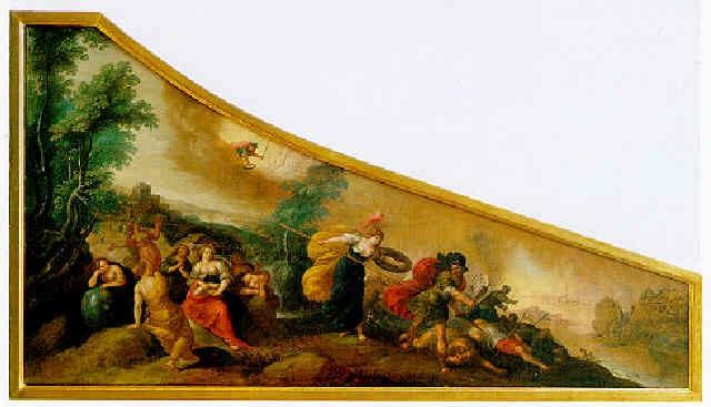 minerva beschuetzt die sieben freien kuenste vor mars by hieronymus francken iii