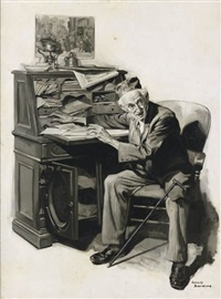 man at a desk by harold n. anderson