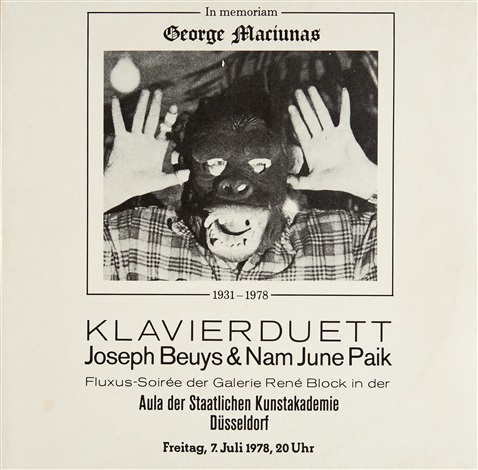 in memoriam george maciunas lp wcover by joseph beuys