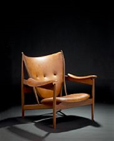 finn juhl chieftain chair easy chair upholstered with patinated