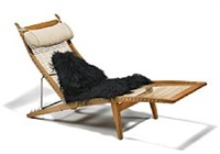 jh 524 oak deck chair by hans j. wegner