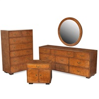 bedroom suite (set of 5) by john widdicomb furniture (co.)