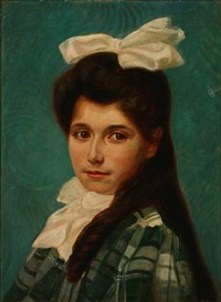 portrait of a young girl by max nathan