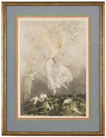 rainbow arc en ciel by louis icart