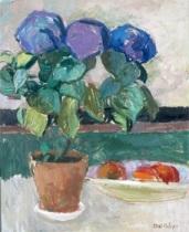 hortensia - stilleben med blomkruka by axel nilsson