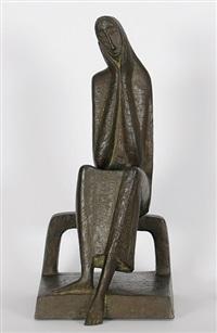 sinnende (sitzend auf bank) by emy roeder