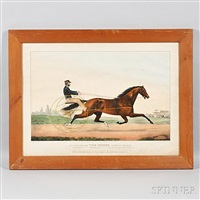the celebrated horse dexter, 'the king of the turf' by currier & ives (publishers)
