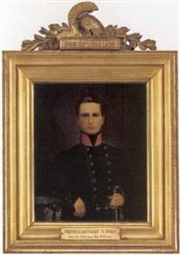 portræt af premierlojnant v. fonss by niels peter holbech