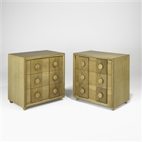 three-drawer dressers (pair) by karpen of california