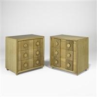 three-drawer dressers (pair) by karpen of california