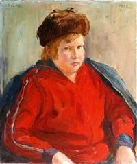 portrait eines russischen knaben by bruno lenz