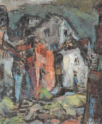 street of tamsui city by chen yinhui