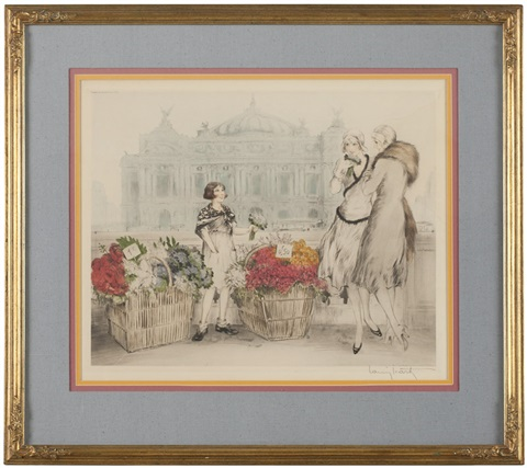 paris flowers fleurs de paris by louis icart