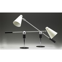adjustable table lamps (2 works) by gilbert watrous