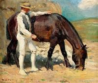 bauer und pferd by walter wäntig