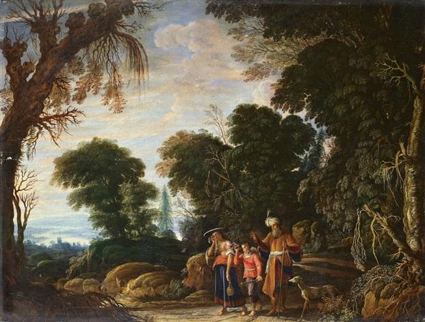landschaft mit verstossung der hagar by david teniers the elder