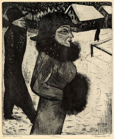 winter (wintertag), pl. 14 (from frau) by conrad felixmüller