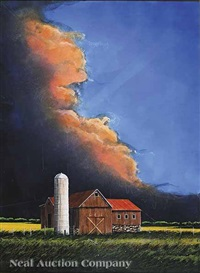 spring storm, agri building by william dunlap