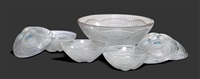 kleines service coquilles (set of 7) by rené lalique