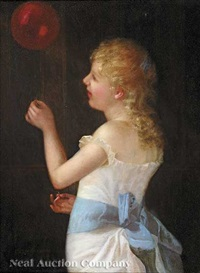 girl with a balloon by charles cole markham