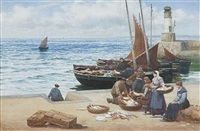 sorting the catch, st. monan's by alexander young