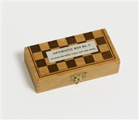optimistic box no. 3 (so much the better if you can't play chess. you won't imitate marcel duchamp) by robert filliou