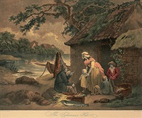the fisherman´s hut (after george morland) by william ward i