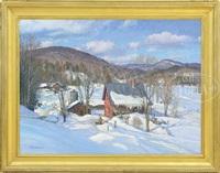 valley farm, vermont by thomas nicholas