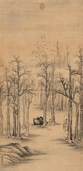 高士策杖图 (landscape) by tang dai